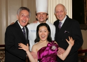 Norman Horowitz, Chef Raymond Hollander, Melvin Stecher, Jenny Chen