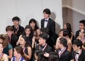 Contestants applauding Aristo Sham