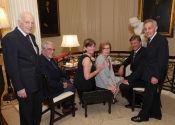 Melvin Stecher, Alberto Comini, Joan Hearst, Kathleen Comini, William Hearst, Norman Horowitz