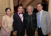 Mr. and Mrs. Lin with Zhiye Lin and Joyce B. Cowin