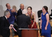 Norman Horowitz Melvin Stecher present First Prize-One Piano, Four Hands to Jooyeon Ka and Prudence Poon