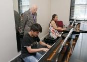 032 Muzi Zhao with collaborative pianist Hana Chu and Melvin Stecher