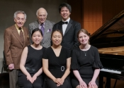 048 Four collaborative pianists (laureates of the NYIPC) with Stecher and Horowitz_Jennifer Lee,Hana Chu, Jennifer Nicole Campbell and Alan Yueh