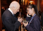 088 Melvin Stecher asks Youlan Ji to inform her teacher of garnering the first prize