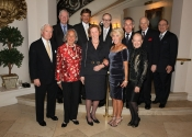 The Stecher and Horowitz Foundation Board Members - Top Row: Charles V. Schaefer, III, William S. Hearst, Mark S. Horowitz, Norman Horowitz, Melvin Stecher, Dr. Vincent T. Garone - Bottom Row: John Sussek, Joyce B. Cowin, Margaret O. Carpenter, Janet Tweed Gusman, Laura Falb