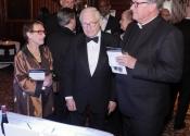 Marsha Waxman, Robert Waxman, President Jeffrey von Arx.jpg
