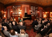 39 Angie Zhang performing in the library of The Lotos Club